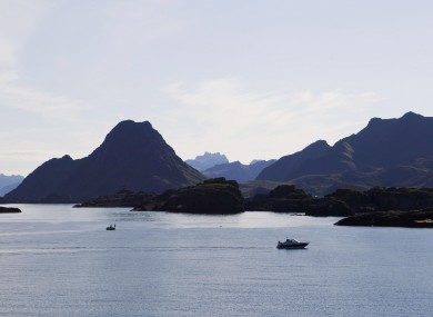The coast off northern Norway near where the incident happened (File photo)