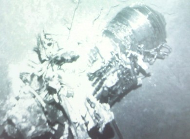 A picture of the crashed Air France flight 447 engine discovered earlier this month.
