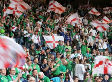 Northern Ireland supporters.