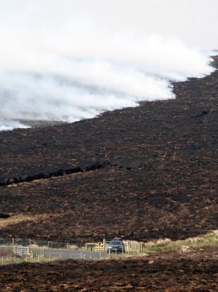 Loughguile in Co Antrim where the heathland was ablaze