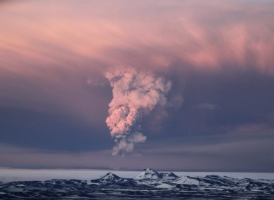 Ash cloud spews from the Grimsvotn volcano which is experiencing its largest eruption in 100 years.