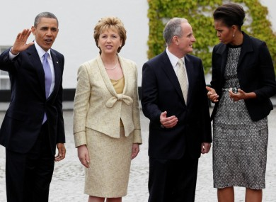 The First Couple meet with President McAleese and her husband Martin earlier this morning.