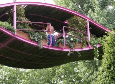 Diarmuid Gavin's award-winning suspended garden at this year's Chelsea Flower Show.