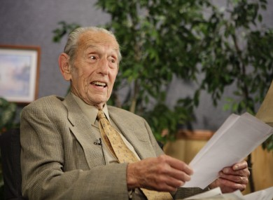 Harold Camping speaks during a taping of his show Open Forum in California last night. Camping now says the world will end in October.