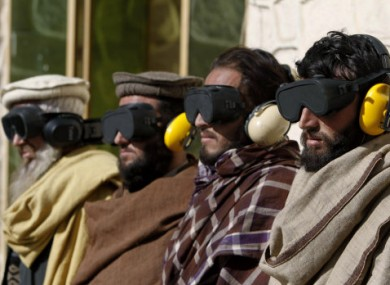 File photo: Suspected Taliban fighters arrested in Jalalabad, east of Kabul, in January 2011.