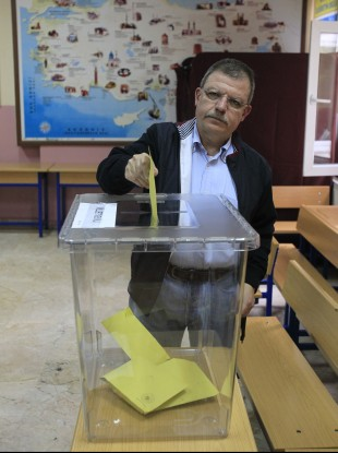 Transparent ballot boxes, seen here at a polling station in Istanbul, were aimed at combating allegations of vote fraud.