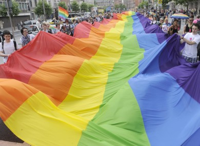 Celebrations at this year's Dublin Pride parade