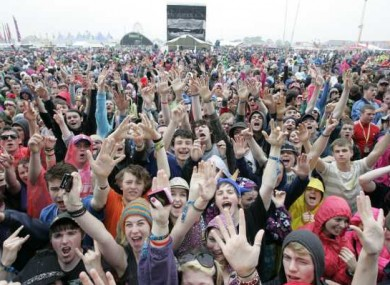 The rain didn't stop play at last year's Oxegen Festival.