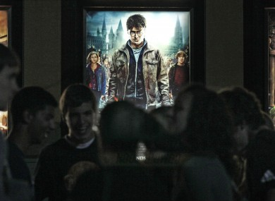 Fans outside a midnight screening of the final Harry Potter movie on Friday.