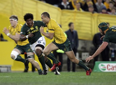 Australia's Quade Cooper broke the South African line at will.