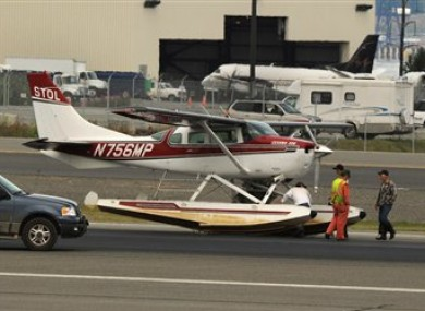One of the planes involved in yesterday's collision managed to make an emergency landing.