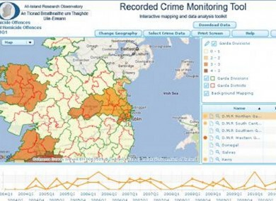 Interactive Map Of Ireland.Ireland S First Crime Mapping Interface Launched Thejournal Ie