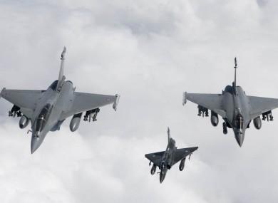NATO aircraft fly over Libyan skies