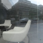 A beautiful refurbished office space near Stephen's Green which has never been in use by the look of it. The luxury chairs now appear to be out on the pavement, reminding me strangely of famine eviction scenes with the furniture turned out into the fields.