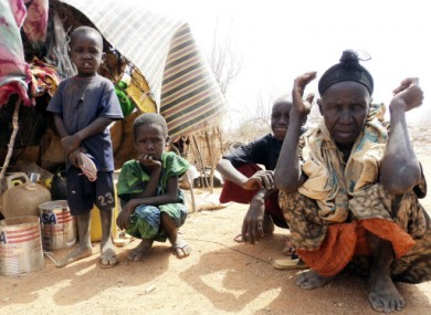 Refugees sit in an open area of the Dollo Ado refugee camp in Ethiopia last month.