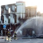 Fire crews working in Croydon this morning. (Gareth Fuller/PA Wire)