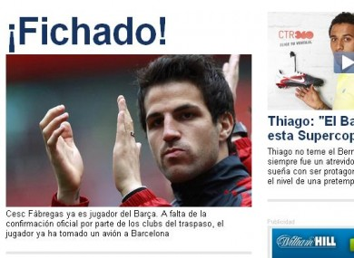 Barcelona complete Fabregas signing - Spanish reports · The42