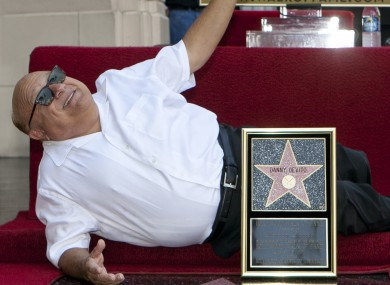 Director and former actor Danny DeVito poses with his star on the Hollywood Walk of Fame in August. He will shoot his next film in Ireland.