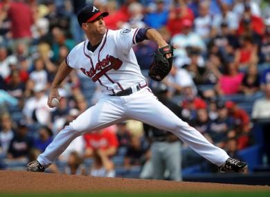 The Atlanta Braves' starting pitcher, Tim Hudson.