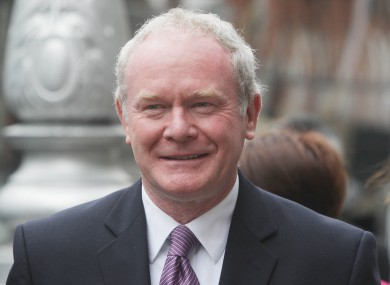 McGuinness arriving to announce his candidacy on Saturday