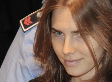 Amanda Knox arrives at court in Perugia, Italy yesterday.