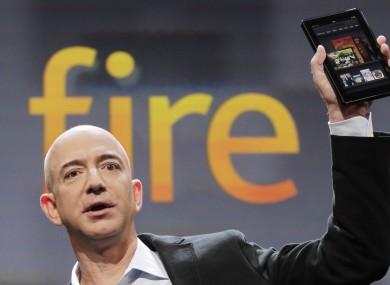 Jeff Bezos launching the Amazon Kindle Fire today.