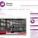 The Maman Poulet blog, shown as captured on 21 February 2011.