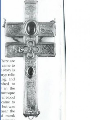 One of the two crosses stolen yesterday, which is thought to date from the 14th century.