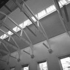 Victorian rooflight in the dissection room in Earlsfort Terrace, 2006.