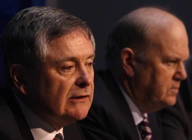Brendan Howlin with finance minister Michael Noonan