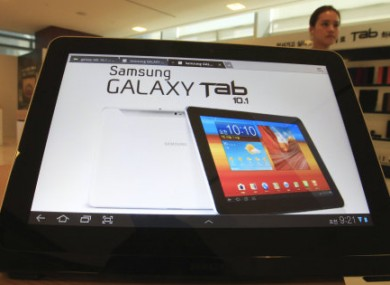 A Galaxy Tab 10.1 on display in Seoul, South Korea in July.