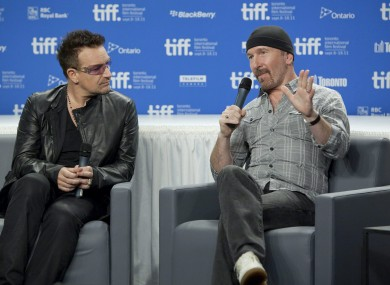 Bono and The Edge at the Toronto Film Festival recently.