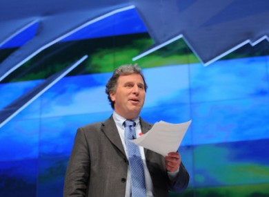 Oliver Letwin MP addressing the Conservative Party Conference last week.