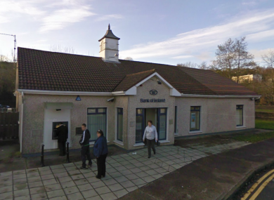 The Bank of Ireland branch in Glanmire, where the attempted raid occurred.
