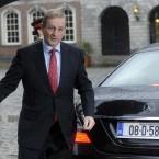 Taoiseach Enda Kenny arrives at Dublin Castle. Image: Laura Hutton/Photocall Ireland