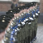 The Defence Forces Guard of Honour from the 5th Infantry Battalion at Dublin Castle. Image: Eamonn Farrell/Photocall Ireland
