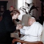 McAleese pictured meeting His Holiness Pope John Paul II at the vatican during the president's three-day official visit to Rome in November 2003.