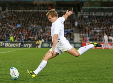 Jonny Wilkinson: there's a 50% chance that he missed this one.