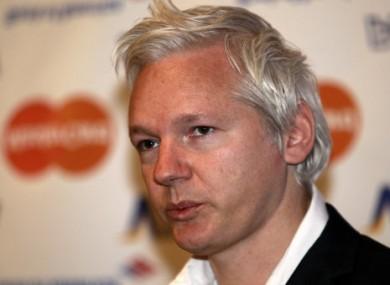 Julian Assange speaking to the media on 24 October.