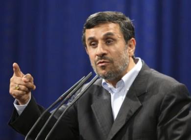 Iran's President Mahmoud Ahmadinejad speaking to the press on 29 October 2011.