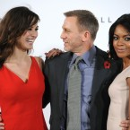 New Bond girls Bérénice Marlohe (left) and Naomie Harris pose with Craig. (Doug Peters/Doug Peters/EMPICS Entertainment/PA Images)