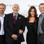 (Left to right) Director Sam Mendes, producers Michael G Wilson and Barbara Broccoli and Daniel Craig. (Doug Peters/EMPICS/PA Images)