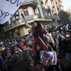 Protesters demonstrate during today's clashes in Cairo. (AP Photo/Tara Todras-Whitehill/PA Images)