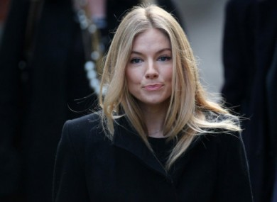 Sienna Miller, one of four people testifying at the Leveson inquiry today.