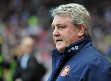 Bruce's days as Sunderland manager look numbered.