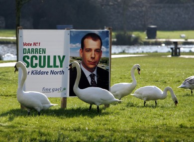A 2005 election poster for former Naas mayor Darren Scully