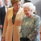 The President and the Queen's relationship was solidified during the four-day State visit in May.   (AP Photo/Pool)