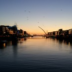 Kieran took this photo over the Liffey on 1 November - it seems watery winter dawns have been creeping in for a while now...