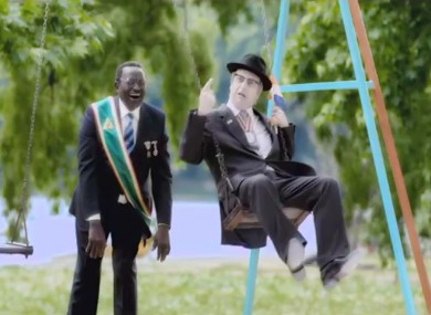 'Robert Mugabe' and 'PW Botha' play in the latest Nando's ad