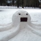 It was from a few days later - but we just had to include it again. It's our favourite Sneachta-pus. 